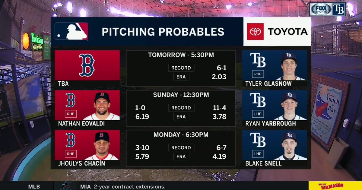 Rays riding momentum into another showdown with Red Sox