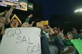 Cousin Sal tries his best Lambeau Leap after sharing the celebration's history