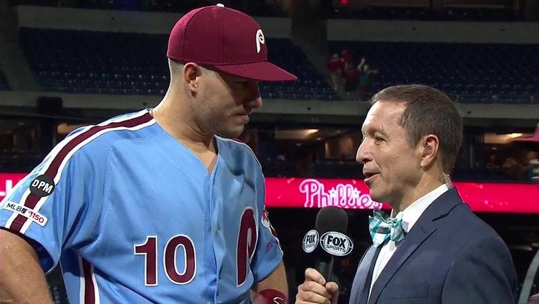 Ken Rosenthal speaks with J.T. Realmuto following a crucial late-season win