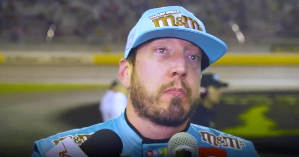 Larry McReynolds and Jamie McMurray react to Kyle Busch's angry interview