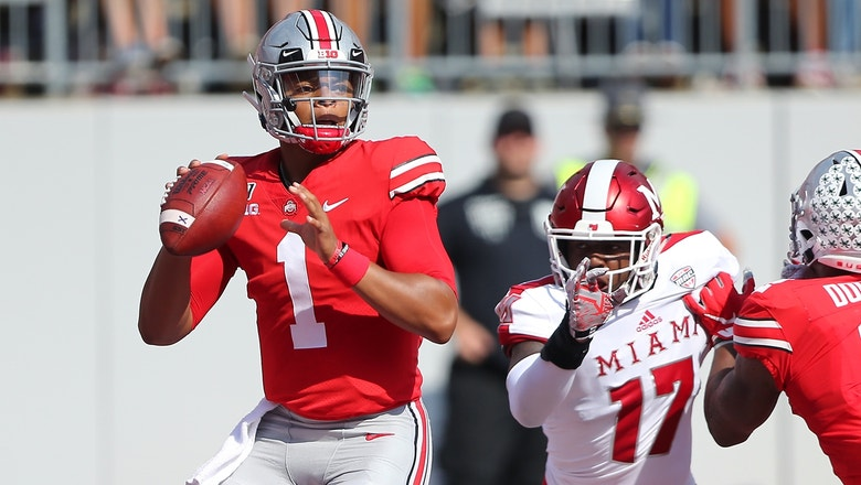 Justin Fields' six first-half touchdowns lead Ohio State to 76-5 blowout win over Miami (OH)