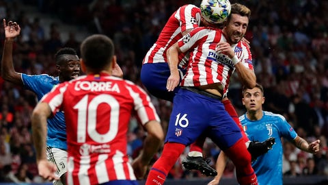 <p>               Atletico Madrid's Hector Herrera scores his side's 2nd goal during the Champions League Group D soccer match between Atletico Madrid and Juventus at Wanda Metropolitano stadium in Madrid, Spain, Wednesday, Sept. 18, 2019. (AP Photo/Manu Fernandez)             </p>