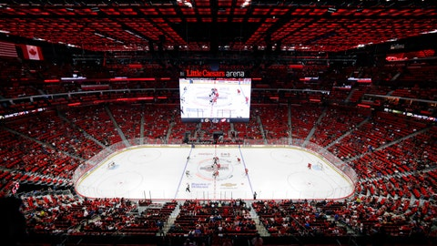 <p>               FILE - In this Sept. 23, 2017, file photo, the Detroit Red Wings play an NHL preseason game against the Boston Bruins at Little Caesars Arena in Detroit. The Red Wings are desperately trying to keep fans filing into Little Caesars Arena while the allure of the relatively new facility wears off while the team goes through a painful rebuild. (AP Photo/Paul Sancya, File)             </p>