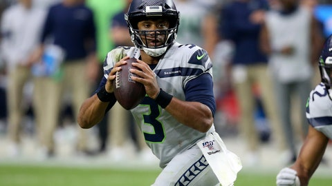 <p>               Seattle Seahawks quarterback Russell Wilson (3) looks to throw against the Arizona Cardinals during the second half of an NFL football game, Sunday, Sept. 29, 2019, in Glendale, Ariz. (AP Photo/Ross D. Franklin)             </p>
