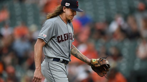 <p>               FILE - In this June 28, 2019, file photo, Cleveland Indians pitcher Mike Clevinger walks to the dugout after giving up four runs to the Baltimore Orioles in the first inning of a baseball game, in Baltimore. The Indians made one stirring comeback after another through a season littered with adversity, misfortune and unexpected challenges. Their last one fell short. For the first time since 2015, baseball's postseason will go on without them. (AP Photo/Gail Burton, File)             </p>