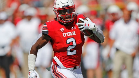 <p>               Utah running back Zack Moss (2) carries the ball against Idaho State in the first half of an NCAA college football game Saturday, Sept. 14, 2019, in Salt Lake City. (AP Photo/Rick Bowmer)             </p>