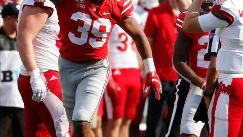 <p>               Ohio State linebacker Malik Harrison, left, celebrates after recovering a fumble against Miami (Ohio) during the first half of an NCAA college football game Saturday, Sept. 21, 2019, in Columbus, Ohio. (AP Photo/Jay LaPrete)             </p>