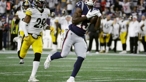 <p>               New England Patriots wide receiver Phillip Dorsett catches a pass in front of Pittsburgh Steelers defensive back Kameron Kelly, left, that he ran in for a touchdown in the second half of an NFL football game, Sunday, Sept. 8, 2019, in Foxborough, Mass. (AP Photo/Elise Amendola)             </p>