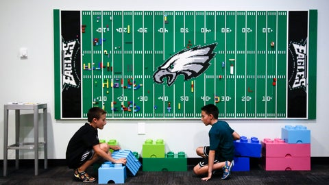 <p>               In this Thursday, Aug. 22, 2019, photo, 10-year-old twin brothers Ryan left, and Jack Ykoruk, play in the Lincoln Financial Field sensory room before a preseason NFL football game between the Philadelphia Eagles and the Baltimore Ravens in Philadelphia. (AP Photo/Matt Rourke)             </p>