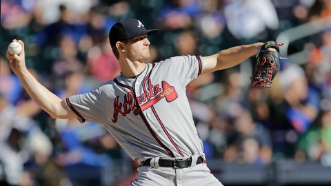 <p>               Atlanta Braves starting pitcher Mike Soroka winds up during the first inning of a baseball game against the New York Mets, Sunday, Sept. 29, 2019, in New York. (AP Photo/Kathy Willens)             </p>