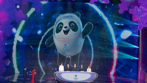 <p>               Bing Dwen Dwen, the official mascot for the Beijing 2022 Winter Olympic is revealed at a ceremony held at the Shougang Ice Hockey Arena in Beijing on Tuesday, Sept. 17, 2019. (AP Photo/Ng Han Guan)             </p>