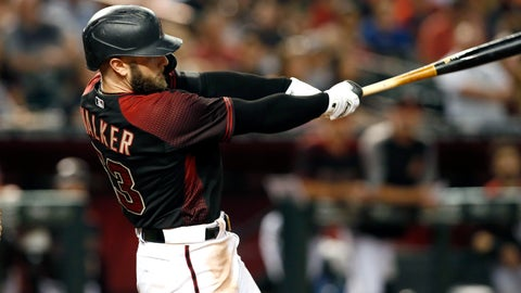 <p>               Arizona Diamondbacks' Christian Walker follows through on his swing as he hits a grand slam home run against the San Diego Padres during the seventh inning of a baseball game, Saturday, Sept. 28, 2019, in Phoenix. (AP Photo/Ralph Freso)             </p>