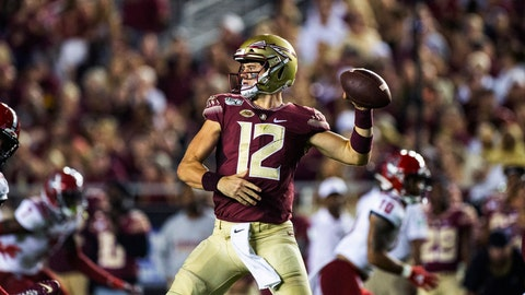 <p>               Florida State quarterback Alex Hornibrook (12) throws in the first half of an NCAA college football game against North Carolina State in Tallahassee, Fla., Saturday, Sept. 28, 2019. (AP Photo/Mark Wallheiser)             </p>