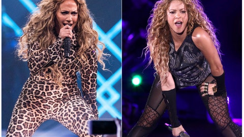 <p>               This combination photo shows actress-singer Jennifer Lopez performing at the Directv Super Saturday Night in Minneapolis on Feb. 3, 2018, left, and Shakira performing at Madison Square Garden in New York on Aug. 10, 2018. The NFL, Pepsi and Roc Nation announced Thursday, Sept. 26, 2019, that Lopez and Shakira will perform at the 2020 Pepsi Super Bowl Halftime Show on Feb. 2, 2020 at Hard Rock Stadium in Miami Gardens, Fla. (Photo by Michael Zorn/Invision/AP)             </p>