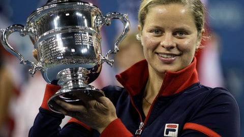 <p>               FILE - In this Sept. 13, 2009, file photo, Kim Clijsters holds the trophy after winning the women's championship over Caroline Wozniacki, at the U.S. Open tennis tournament in New York. Four-time Grand Slam champion Kim Clijsters is planning another comeback. A mother of three, the Belgian who retired after the 2012 U.S. Open wants a new challenge, she told the WTA in an interview on its website on Thursday, Sept. 12, 2019. (AP Photo/Charles Krupa, FIle)             </p>