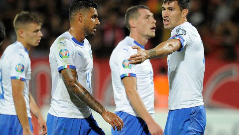 Italy struggles to beat 10-man Armenia 3-1 in Euro qualifier