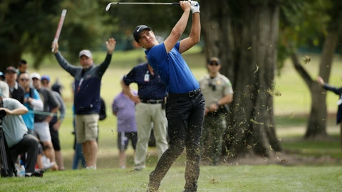 <p>               Cameron Champ follows his approach shot up to the third green of the Silverado Resort North Course during the final round of the Safeway Open PGA golf tournament Sunday, Sept. 29, 2019, in Napa, Calif. (AP Photo/Eric Risberg)             </p>