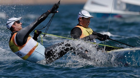 "<p>               FILE - In this Aug. 6, 2012, file photo, Australia'sMathew Belcher and Malcolm Page, left, compete during the men's 470 class race at the 2012 Summer Olympics in Weymouth and Portland, England. Page is out as chief of Olympic sailing for the U.S. national team, less than a year before the Tokyo Games. U.S. Sailing said in a statement Thursday, Sept. 19, 2019, that it and Page ""have agreed to part ways.""(AP Photo/Bernat Armangue, File)             </p>"
