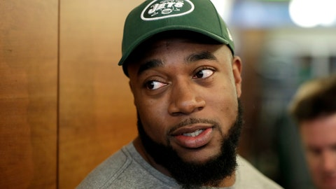 <p>               FILE - In this Saturday, May 5, 2018 file photo, New York Jets' Nathan Shepherd, who was drafted in the third round of the 2018 draft, speaks to reporters during NFL rookie camp in Florham Park, N.J. New York Jets defensive lineman Nathan Shepherd has been suspended six games by the NFL for violating the league's policy on performance-enhancers. The NFL announced the suspension Tuesday, Sept. 10, 2019. (AP Photo/Julio Cortez, File)             </p>