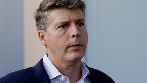 <p>               FILE - In this Nov. 15, 2017 file photo, Hal Steinbrenner, principal owner, managing general partner and co-chairman of the New York Yankees, talks with reporters at the annual MLB baseball general managers' meetings in Orlando, Fla. Steinbrenner thinks New York manager Aaron Boone has his team ready for the postseason after an unprecedented run of injuries.  (AP Photo/John Raoux, File)             </p>