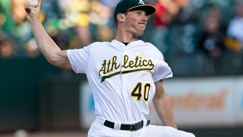 <p>               Oakland Athletics starting pitcher Chris Bassitt throws to a Detroit Tigers batter during the first inning of a baseball game Saturday, Sept. 7, 2019 in Oakland, Calif. (AP Photo/John Hefti)             </p>