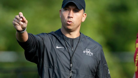 <p>               FILE - In this Aug. 2, 2019, file photo, Iowa State coach Matt Campbell gestures during an NCAA college football practice, in Ames, Iowa. The Cyclones were ranked in the preseason poll for the first time in 41 years behind a punishing defense, a young quarterback who seems destined for stardom and a coach who always seems to push the right buttons. And yet, the enthusiasm of Iowa State's supporters might give way to a tiny bit of pause when they see Northern Iowa _ the Cyclones' longtime FCS nemesis _ scheduled for Saturday's opener. (AP Photo/Charlie Neibergall, File)             </p>