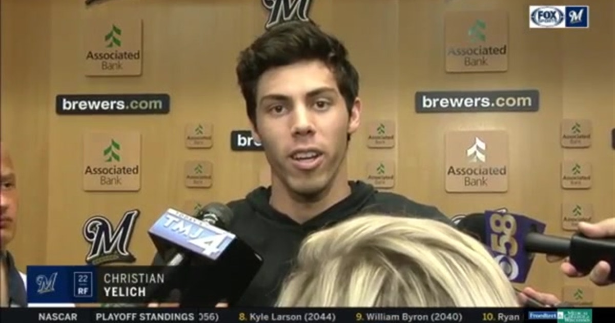 Brewers' Yelich remains positive since suffering season-ending injury