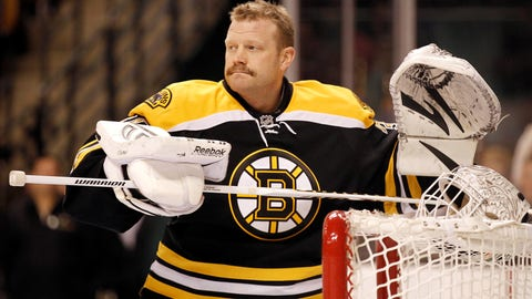 <p>               FILE - In this Feb. 4, 2012, file photo, Boston Bruins goalie Tim Thomas is shown before an NHL hockey game agains the Pittsburgh Penguins in Boston. Tim Thomas broke a years-long public silence Wednesday, Sept. 4, 2019,  after being named as part of the United States Hockey Hall of Fame's class of 2019. The mercurial retired NHL goaltender who led the Boston Bruins to the Stanley Cup in 2011 and made headlines for refusing to visit then-President Barack Obama at the White House has avoided the spotlight since walking away from hockey in 2014. (AP Photo/Winslow Townson, File)             </p>