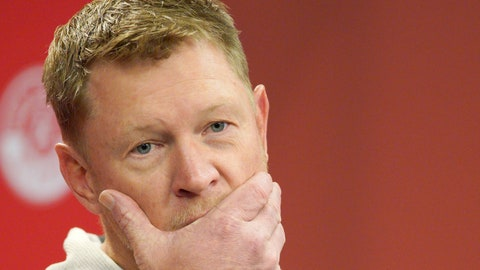 <p>               FIEL - In this March 5, 2019, file photo, Nebraska coach Scott Frost takes a question during a news conference in Lincoln, Neb. Nebraska has lost after leading at halftime or later in five of 14 games under Scott Frost. The Cornhuskers squandered a 17-0 halftime lead before losing in overtime at Colorado on Saturday, their biggest blown lead since UCLA came from 18 points down to win in 2013. The Huskers are 1-6 in games decided by five points or less under Frost. (AP Photo/Nati Harnik, File)             </p>