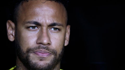 <p>               FILE - In this Tuesday, Sept. 10, 2019 file photo, Brazil's Neymar Jr. listens to his country's national anthem before an international friendly soccer match against Peru, in Los Angeles. Neymar is set to make his Paris Saint-Germain return after being included in the squad for their French league game at home to Strasbourg on Saturday, Sept. 14. (AP Photo/Marcio Jose Sanchez, file)             </p>