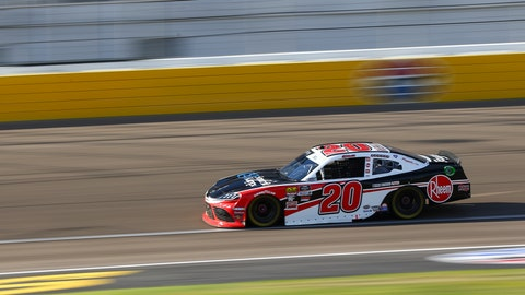 <p>               Christopher Bell drives during a NASCAR Xfinity Series auto race at Las Vegas Motor Speedway, Saturday, Sept. 14, 2019, in Las Vegas. (Chase Stevens/Las Vegas Review-Journal via AP)             </p>