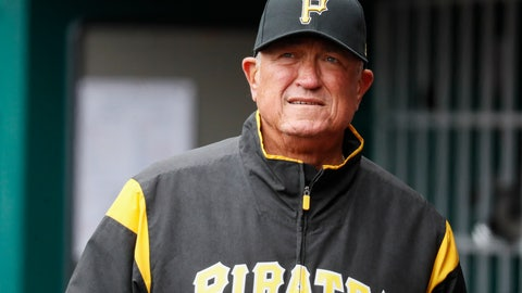 <p>               FILE - In this March 31, 2019, file photo, Pittsburgh Pirates manager Clint Hurdle walks through the dugout in the third inning of a baseball game against the Cincinnati Reds in Cincinnati. Hurdle hopes to return for what would be his 10th season as the Pirates' manager in 2020. He  has two more years remaining on a deal that started with the 2018 season. (AP Photo/John Minchillo, File)             </p>