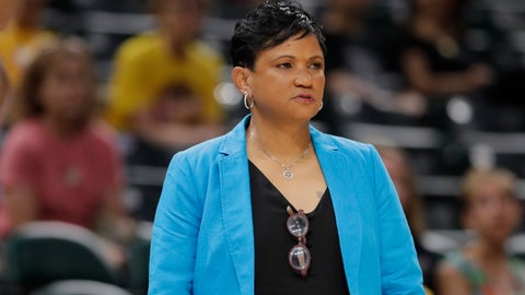 <p>               FILE - In this June 25, 2019, file photo, Indiana Fever head coach Pokey Chatman watches the first half of a WNBA basketball game against the Minnesota Lynx in Indianapolis. The Fever fired coach and general manager Chatman on Monday, Sept. 9, 2019, a day after the team finished with a third straight losing season. (AP Photo/Darron Cummings, File)             </p>