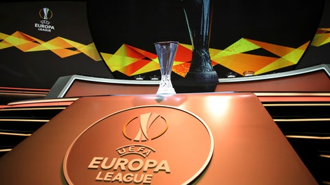 <p>               The Europa League trophy is put on display before the UEFA Europa League group stage draw at the Grimaldi Forum, in Monaco, Friday, Aug. 30, 2019. (AP Photo/Daniel Cole)             </p>