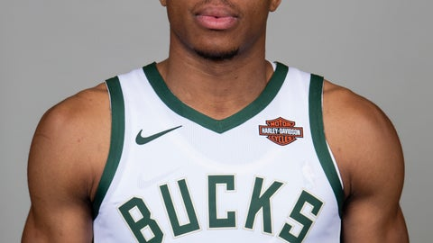 <p>               Milwaukee Bucks' Giannis Antetokounmpo poses for a portrait during the NBA basketball team's media day Monday, Sept. 30, 2019, in Milwaukee. After leading the Bucks to a league-best 60 wins in the regular season and losing to the NBA champion Raptors in the Eastern Conference finals earlier this year, Antetokounmpo is putting his league MVP trophy on the shelf and focusing solely on taking Milwaukee to the next level. (AP Photo/Darren Hauck)             </p>