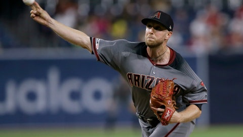 <p>               Arizona Diamondbacks starting pitcher Merrill Kelly throws to a San Diego Padres batter during the first inning of a baseball game in San Diego, Friday, Sept. 20, 2019. (AP Photo/Alex Gallardo)             </p>