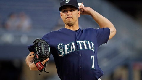 <p>               Seattle Mariners starting pitcher Marco Gonzales delivers during the first inning of a baseball game against the Pittsburgh Pirates in Pittsburgh, Tuesday, Sept. 17, 2019. (AP Photo/Gene J. Puskar)             </p>