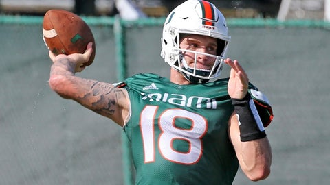 <p>               FILE - In this Aug. 7, 2019, file photo, Miami quarterback Tate Martell (18) throws the ball during an NCAA college football practice in Coral Gables, Fla. The vast majority of graduate transfers came through the transfer portal without much issue. A few underclassmen received waivers from the NCAA to play right away. Others must spend a season on the sideline after the governing body denied their requests. (Charles Trainor Jr./Miami Herald via AP, File)             </p>