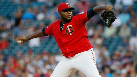 <p>               Minnesota Twins pitcher Michael Pineda throws to a Cleveland Indians batter during the first inning of a baseball game Friday, Sept 6, 2019, in Minneapolis. (AP Photo/Jim Mone)             </p>