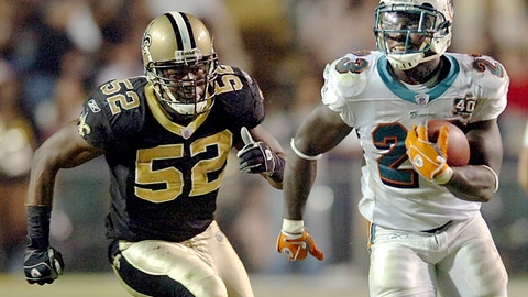 <p>               FILE - In this Sunday, Oct. 30, 2005 file photo, running back Ronnie Brown (23) runs against New Orleans Saints linebacker Sedrick Hodge (52) gives chase during the fourth quarter, in Baton Rouge, La. Federal prosecutors said Wednesday, Sept. 11, 2019, that former New Orleans Saint Hodge sold oxycodone pills in Cartersville, Georgia, just northwest of Atlanta. The 40-year-old Hodge is accused of illegal distribution of controlled substances, among other charges.(AP Photo/Bill Feig, File)             </p>