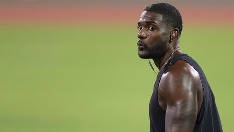 <p>               United States sprinter Justin Gatlin works out during the training session at the Suhaim Bin Hamad Stadium, Tuesday, Sept. 24, 2019, ahead of the 2019 IAAF World Athletics Championships in Doha, Qatar. (Martin Rickett(/PA via AP)             </p>