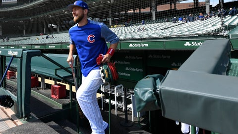 <p>               Chicago Cubs' Ben Zobrist returns to Wrigley Field for batting practice after being gone several months for personal reasons before a baseball game between the Chicago Cubs and Milwaukee Brewers Sunday, Sept. 1, 2019, in Chicago. (AP Photo/Paul Beaty)             </p>