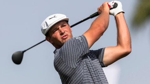 <p>               FILE - In this Jan. 27, 2019, file photo, Bryson Dechambeau tees off on the ninth hole during round four of the Dubai Desert Classic golf tournament, in Dubai, United Arab Emirates. mbeau is the highest ranked player in the field at A Military Tribute at The Greenbrier, which kicks off the PGA Tour season Thursday, Sept. 12, 2019, in White Sulphur Springs, W.Va. (AP Photo/Neville Hopwood, File)             </p>