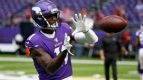 <p>               In this Aug. 24, 2019, photo, Minnesota Vikings wide receiver Laquon Treadwell warms up before an NFL preseason football game against the Arizona Cardinals in Minneapolis. The Vikings have brought back a pair of familiar players, signing cornerback/punt returner Marcus Sherels and wide receiver Treadwell. (AP Photo/Bruce Kluckhohn)             </p>