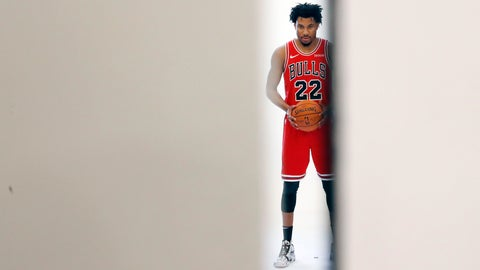 <p>               Chicago Bulls guard Otto Porter Jr. poses for a photo during the NBA basketball team's media day Monday, Sept. 30, 2019, in Chicago. (AP Photo/Charles Rex Arbogast)             </p>