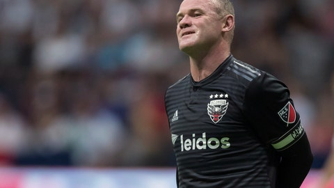 <p>               FILE - In this Aug. 17, 2019, file photo, D.C. United's Wayne Rooney reacts after putting a shot over top of the Vancouver Whitecaps' goal during the first half of an MLS soccer match in Vancouver, British Columbia. As his Major League Soccer career draws to a close and he prepares to return home, Wayne Rooney would like one more shot at the playoffs stateside. (Darryl Dyck/The Canadian Press via AP, File)             </p>