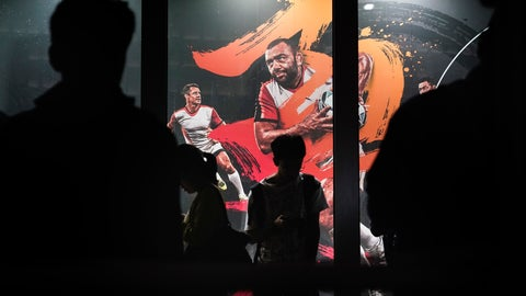 <p>               People are silhouetted against an advertisement showing an image of Japan captain Michael Leitch outside an official merchandise store of the Rugby World Cup Wednesday, Sept. 18, 2019, in Tokyo. (AP Photo/Jae C. Hong)             </p>