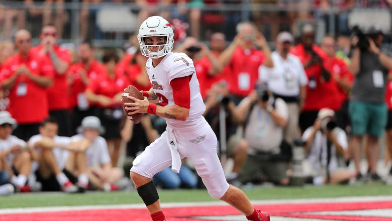Chris Robison throws 4 TDs, FAU bests Ball State 41-31 for first win of the season