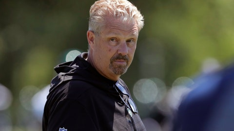 "<p>               FILE - In this June 4, 2019, file photo, New York Jets defensive coordinator Gregg Williams looks on as his players run drills at the team's NFL football training facility in Florham Park, N.J. Odell Beckham Jr. says former Browns defensive coordinator Gregg Williams instructed his players to ""take me out"" of a preseason game in 2017. The Pro Bowl wide receiver sustained an ankle injury when Cleveland's Briean Boddy-Calhoun cut his legs out while he was with the New York Giants. Beckham said current Cleveland players told him that Williams instructed them to ""take me out of the game, and it's preseason."" (AP Photo/Julio Cortez, File)             </p>"