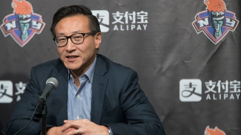 <p>               FILE - In this May 9, 2019, file photo, Joe Tsai speaks to reporters during a news conference before a WNBA exhibition basketball game between the New York Liberty and China in New York. The Brooklyn Nets have a new owner and a new CEO. Alibaba co-founder Joe Tsai completed his purchase of the team and Barclays Center on Wednesday,Sept. 18, 2019, then announced that he had hired former Turner Broadcasting President David Levy to oversee both. (AP Photo/Mary Altaffer, File)             </p>